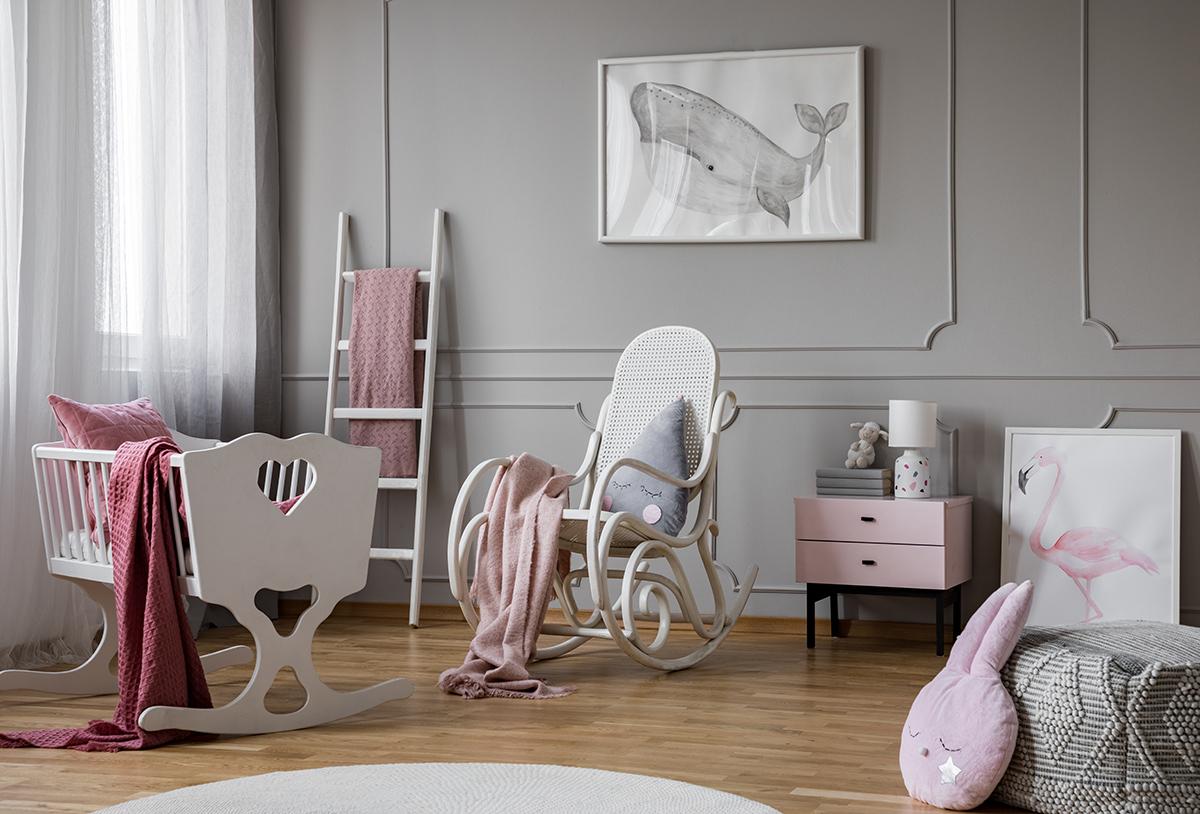 Firany i zasłony do szarego pokoju dziecięcego