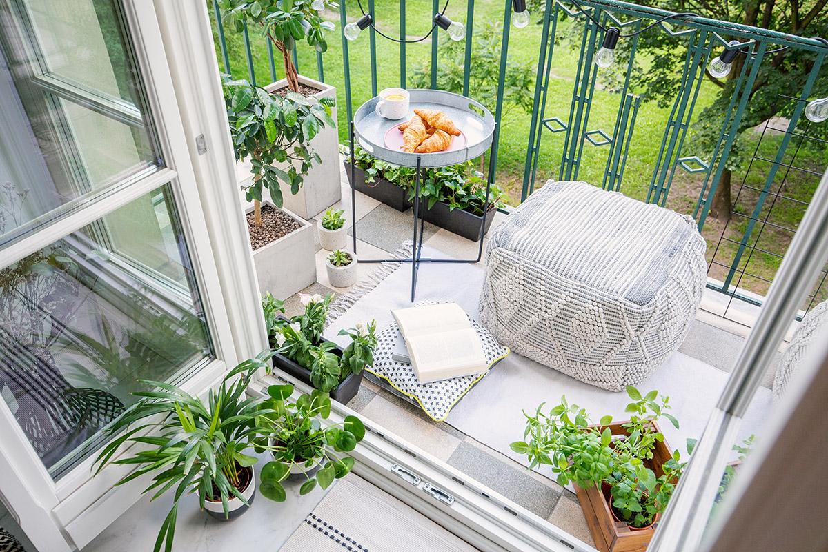 Mały balkon - dekoracja