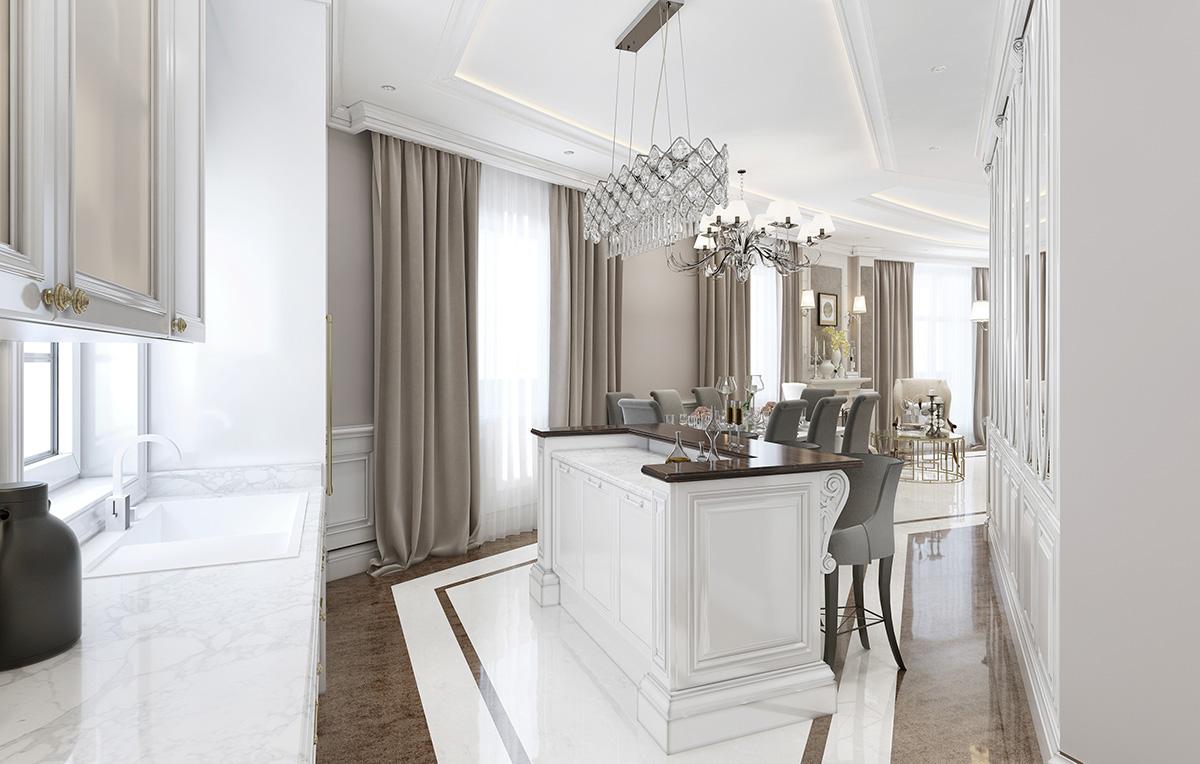 Nowoczesne wnętrze we włoskim stylu